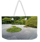 Japanese Flat Garden With Checkerboard Pattern Weekender Tote Bag