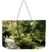 Japanese Garden At Butchart Gardens In Spring Weekender Tote Bag