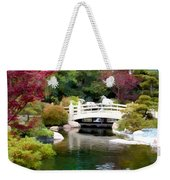 Japanese Garden Bridge And Koi Pond Weekender Tote Bag