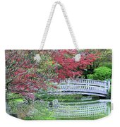 Japanese Garden Bridge In Springtime Weekender Tote Bag