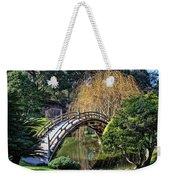Japanese Garden Bridge Weekender Tote Bag