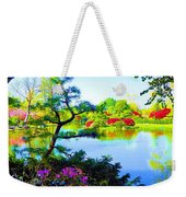 Japanese Garden In Spring Weekender Tote Bag