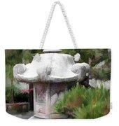 Japanese Garden Stone Lantern Statue Weekender Tote Bag