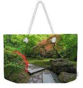 Japanese Garden Strolling Stone Path Weekender Tote Bag