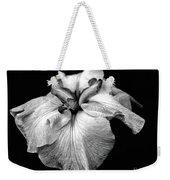 Japanese Iris In Black And White Weekender Tote Bag