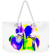 Japanese Iris Pop Art Abstract Weekender Tote Bag