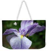 Japanese Iris Unfolding Weekender Tote Bag