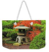 Japanese Maple And Lantern 1 Weekender Tote Bag