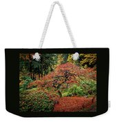 Japanese Maple At The Japanese Gardens Portland Weekender Tote Bag