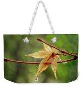 Japanese Maple In The Rain Weekender Tote Bag