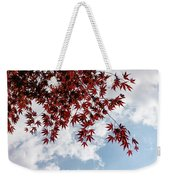 Japanese Maple Red Lace - Horizontal View Downwards Right Weekender Tote Bag