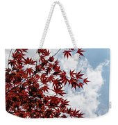 Japanese Maple Red Lace - Vertical Up Right Weekender Tote Bag
