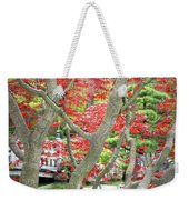 Japanese Maple Tree And Pond Weekender Tote Bag