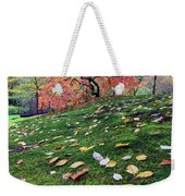 Japanese Maple Tree On A Mossy Slope Weekender Tote Bag