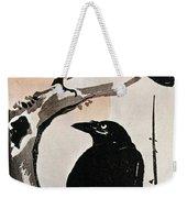 Japanese Print: Crow Weekender Tote Bag