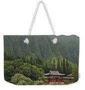 Japanese Temple Weekender Tote Bag
