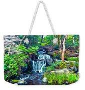 Japanese Waterfall Garden Weekender Tote Bag