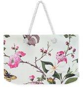 Japonica Magnolia And Butterflies Weekender Tote Bag