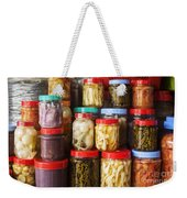 Jars Of Asian Style Pickles In Kep Market Cambodia Weekender Tote Bag