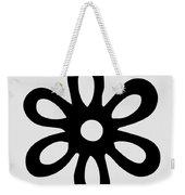Camellia - Black  Weekender Tote Bag