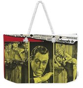 Jason Robards As Al Capone  Spanish Theatrical  Poster The St. Valentines Day Massacre 1967  Weekender Tote Bag