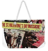 Jason Robards As Al Capone Theatrical Poster The St. Valentines Day Massacre 1967  Weekender Tote Bag