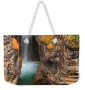 Jasper Maligne Canyon Waterfall Weekender Tote Bag