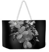 Jatropha Blossoms Wasp Painted Bw Weekender Tote Bag