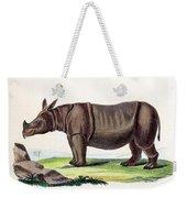 Javan Rhinoceros, Endangered Species Weekender Tote Bag