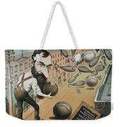 Jay Gould Cartoon, 1882 Weekender Tote Bag
