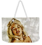 Jayne Mansfield, Vintage Hollywood Actress And Pinup By Mary Bassett Weekender Tote Bag