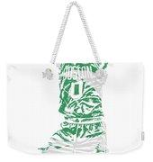 Jayson Tatum Boston Celtics Pixel Art 11 Weekender Tote Bag