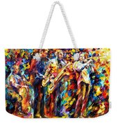 Jazz Band - Palette Knife Oil Painting On Canvas By Leonid Afremov Weekender Tote Bag