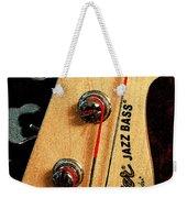 Jazz Bass Headstock Weekender Tote Bag