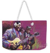 Jazz Guitarist Duet Weekender Tote Bag