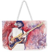Jazz Guitarist Marcus Miller Red Weekender Tote Bag