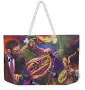 Jazz Jazzband Trio Weekender Tote Bag