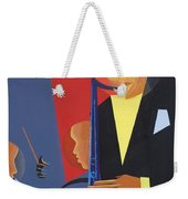 Jazz Sharp Weekender Tote Bag by Kaaria Mucherera