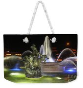 J.c. Nichols Fountain-4981 Weekender Tote Bag