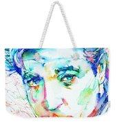Jean Gabin - Colored Pens Portrait Weekender Tote Bag