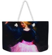 Jean Jacket Ballerina Weekender Tote Bag