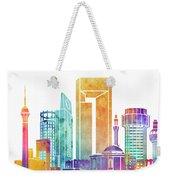 Jeddah Landmarks Watercolor Poster Weekender Tote Bag