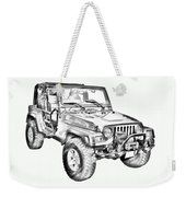 Jeep Wrangler Rubicon Illustration Weekender Tote Bag