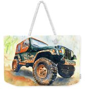 Jeep Wrangler Watercolor Weekender Tote Bag