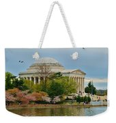 Jefferson Memorial, Springtime In Dc Is When Things Bloom, Like The Japanese Cherry Trees Weekender Tote Bag