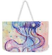 Jelly Fish Watercolor Weekender Tote Bag