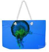 Jellyfish In Green Weekender Tote Bag