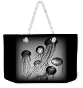 Jellyfish In Monochrome Weekender Tote Bag