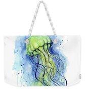 Jellyfish Watercolor Weekender Tote Bag