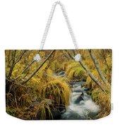 Jenny Creek In Autumn Weekender Tote Bag